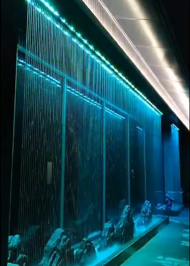 室内拉线水帘系统
