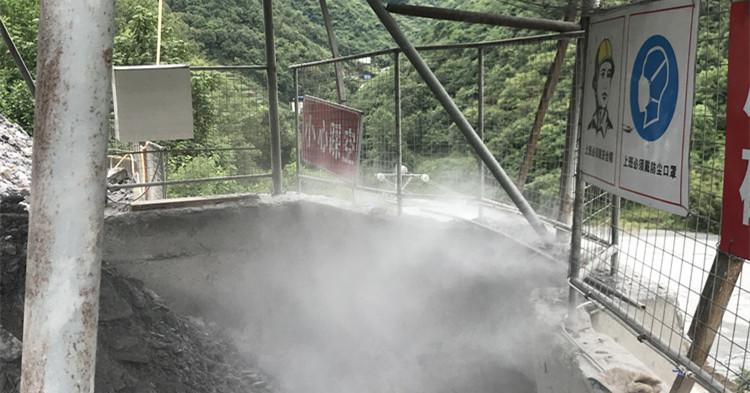 白河县钰宏旺矿业 喷雾降尘系统圆满竣工