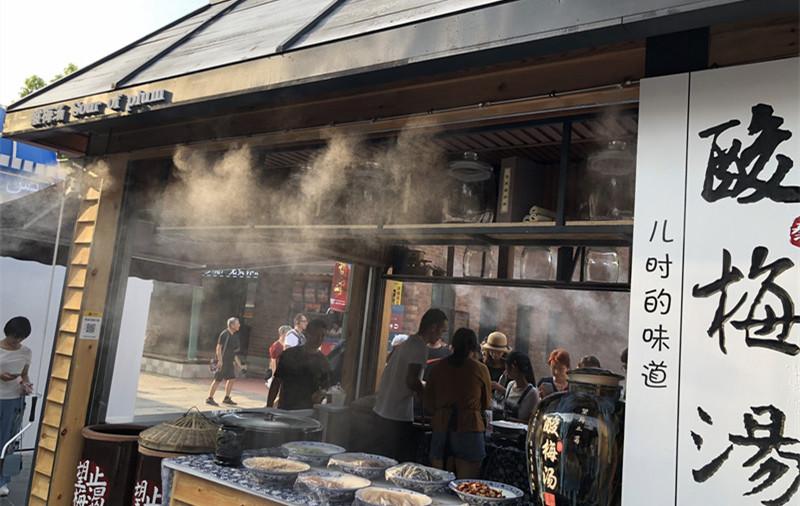 兵马俑游客中心喷雾降温系统圆满竣工