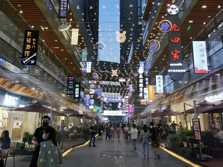 西安中贸广场商业街区喷雾降温系统