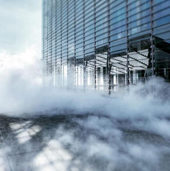 喷雾除尘系统对空气颗粒污染物的作用